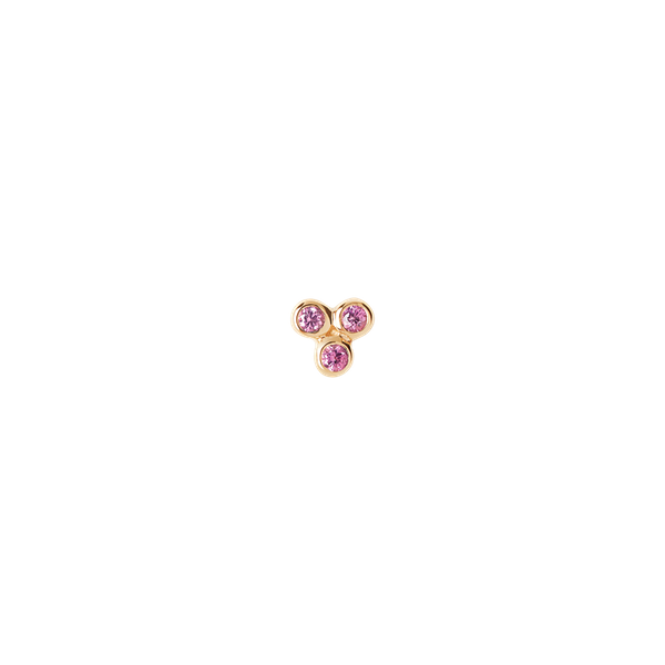 Triad Pink Saphir Stud