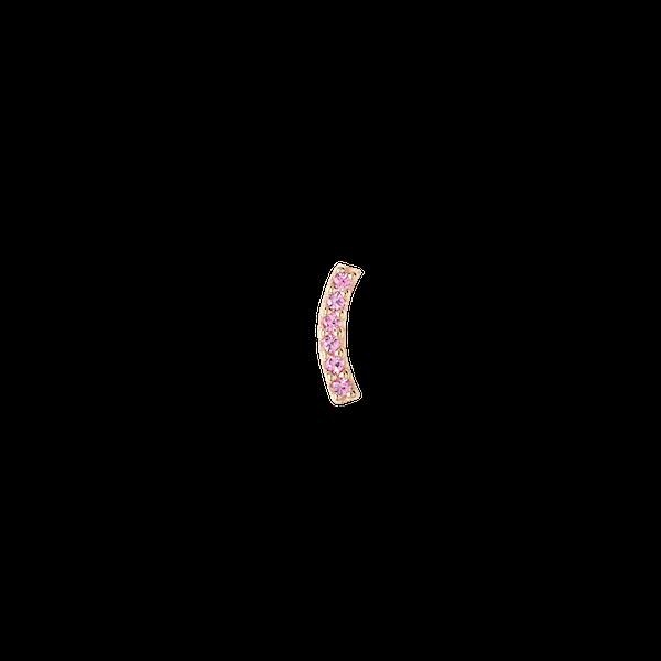 Crescent Pink Sapphire Stud