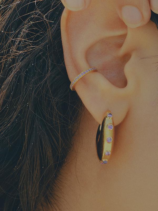 Colore Violet Ear Cuff