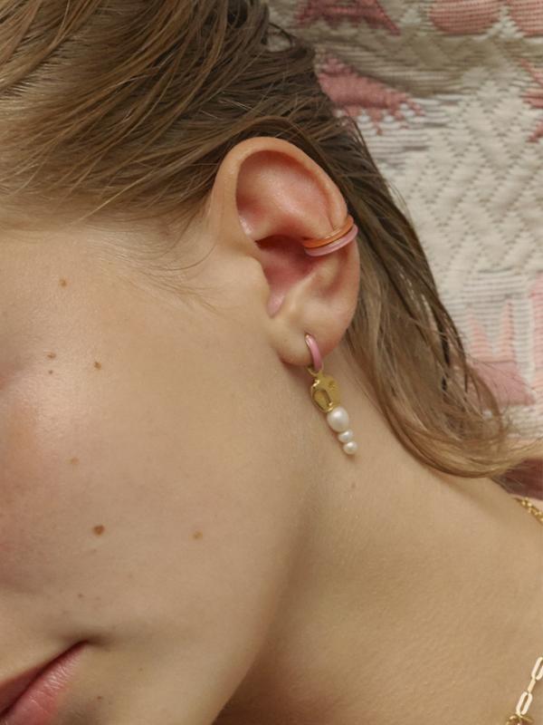 Cindy Coral Ear Cuff